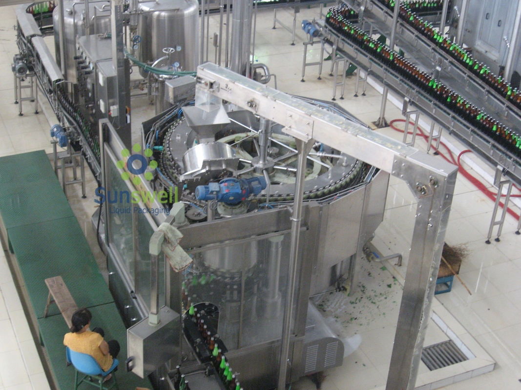 Rotary Automatic Beer Filling Machine , Multi-Head Volumetric Filling Machine