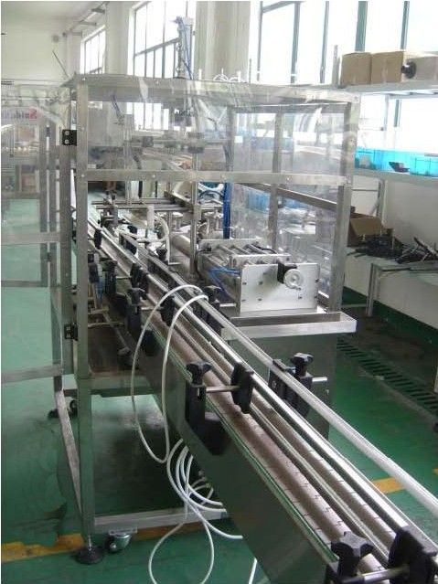 PLC & HMI  Controlled Automatic Piston filling machine four heads for high viscous paste